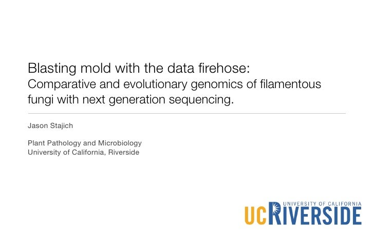 Blasting mold with the data firehose: Comparative and evolutionary genomics of filamentous fungi with next generation sequen...
