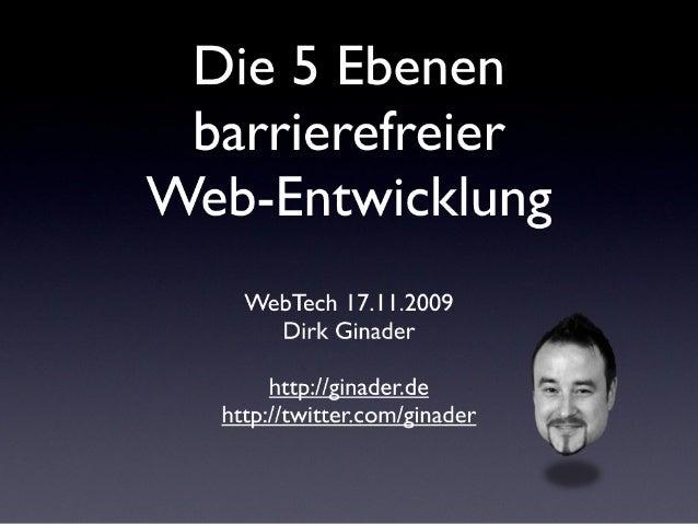 Die 5 Ebenen Barriererfreier Web Entwicklung