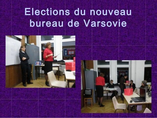 Elections du nouveau bureau de Varsovie