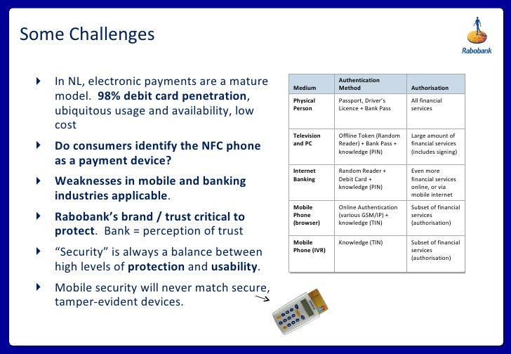 Some Challenges <ul><li>In NL, electronic payments are a mature model.  98% debit card penetration , ubiquitous usage and ...