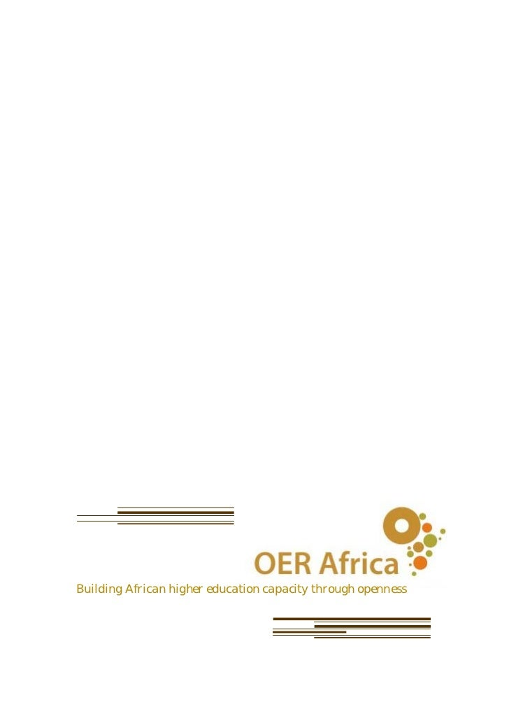 Building African higher education capacity through openness
