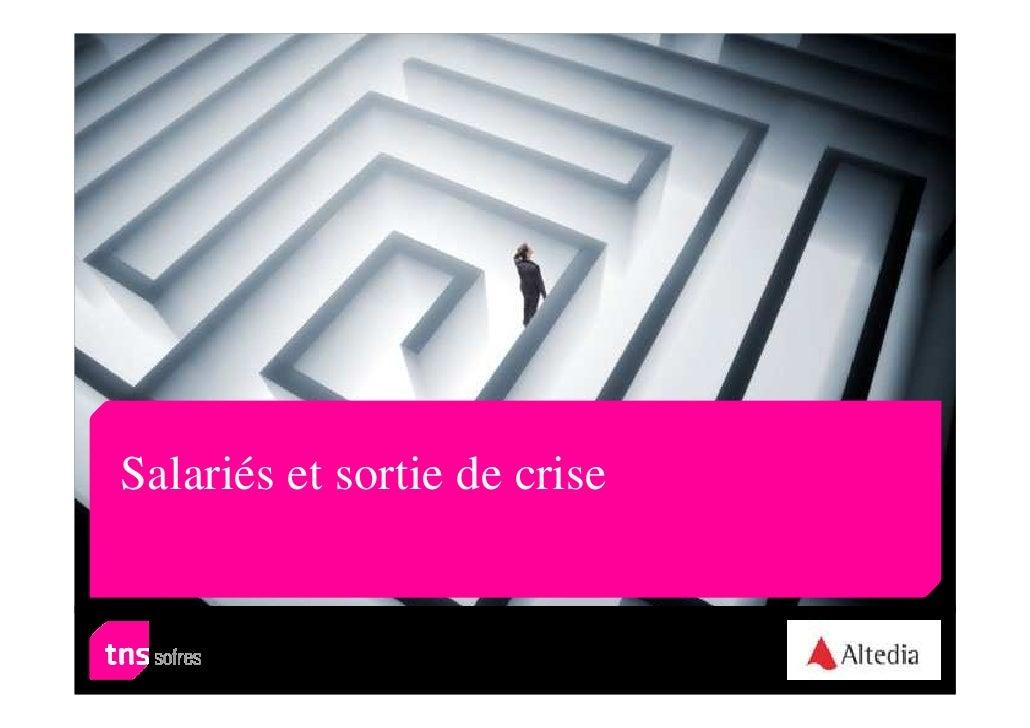 Salariés et sortie de crise