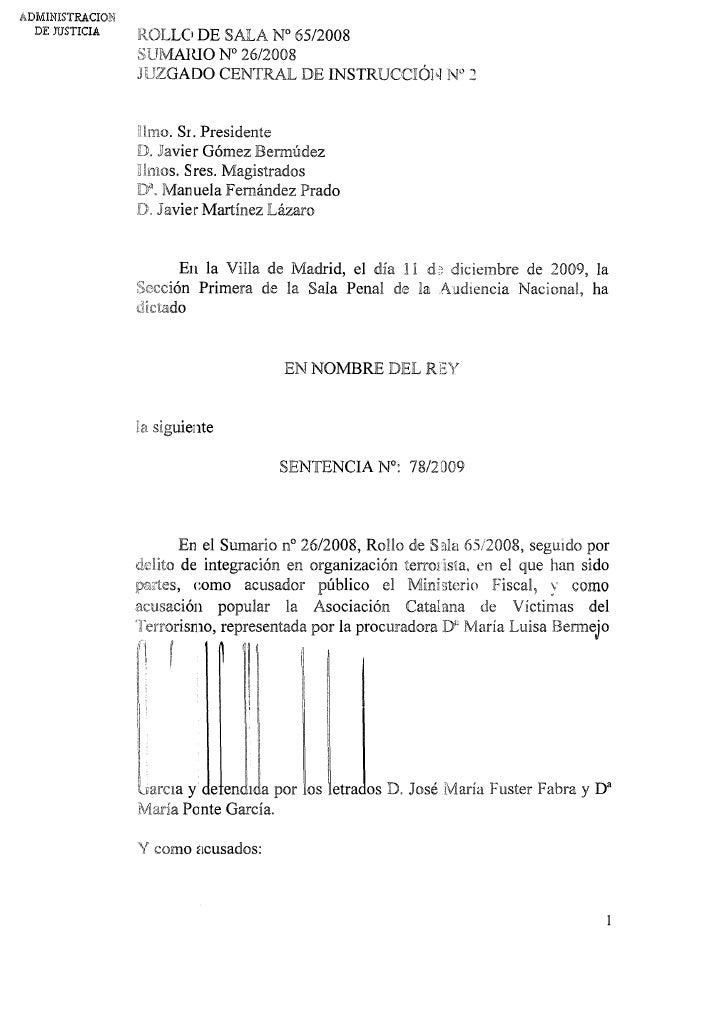 2009 12 14 Sentencia Paquistanies Metro Barcelona