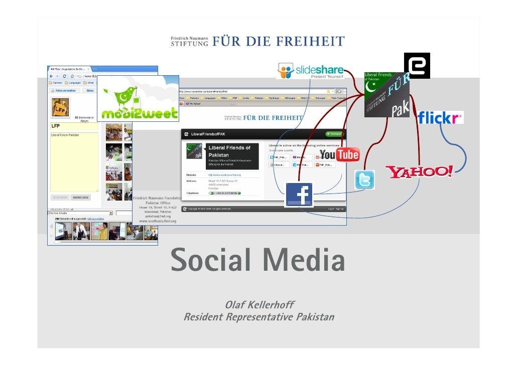 Social Media          Olaf Kellerhoff Resident Representative Pakistan