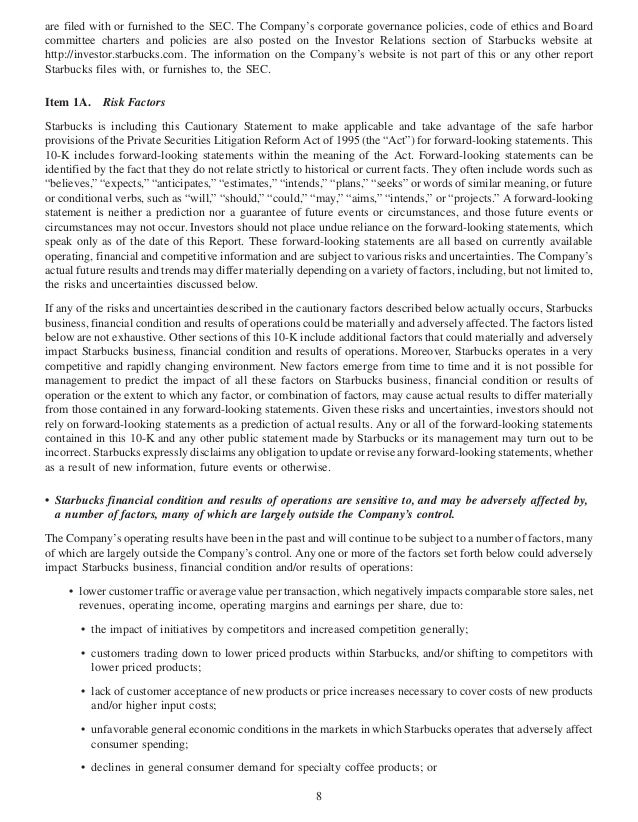 starbucks annual report 2009