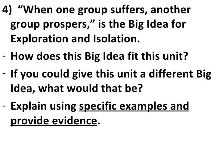 2009-2010 Exploration And Isolation Essential Questions