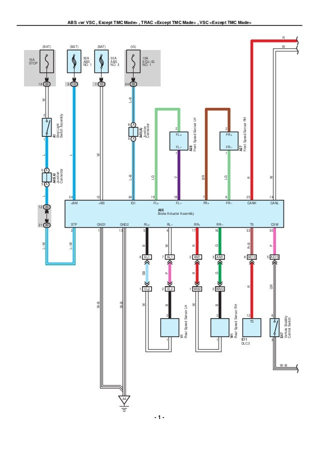 Toyota Electrical Wiring Diagram Touch Diagrams