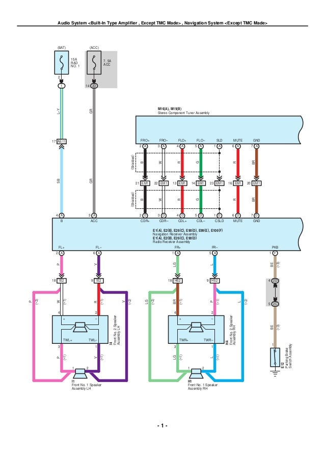 2009 2010 toyota corolla electrical wiring diagrams rh slideshare net 2003 Toyota Stereo Wire Colors 2003 Toyota Stereo Wire Colors