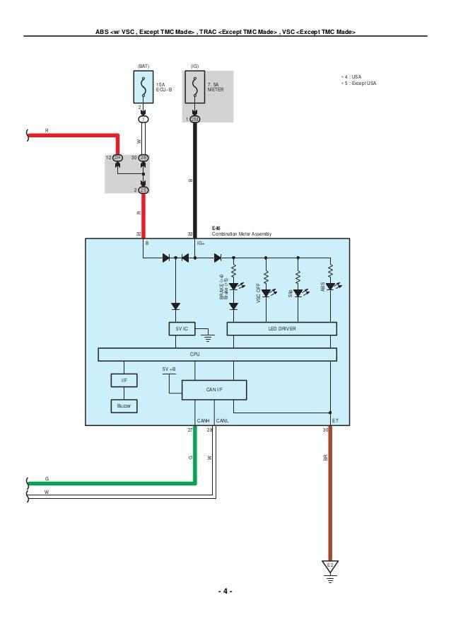 Toyota Anti Lock Brakes Electrical Wiring Diagram Manual - DATA ...