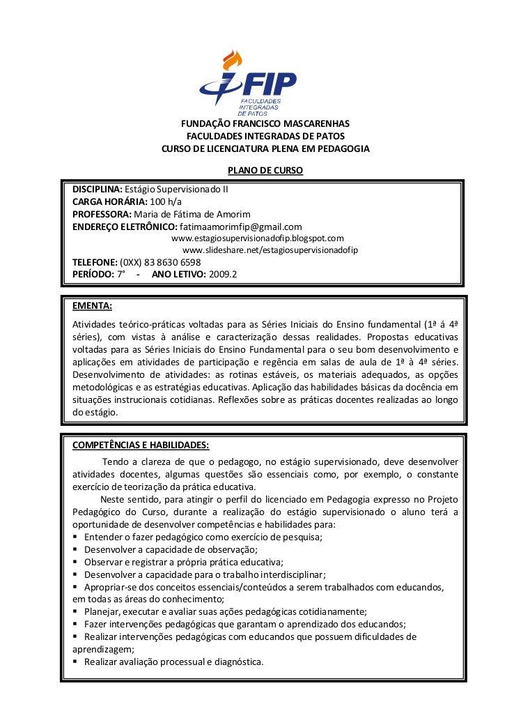 FUNDAÇÃO FRANCISCO MASCARENHAS                          FACULDADES INTEGRADAS DE PATOS                      CURSO DE LICEN...
