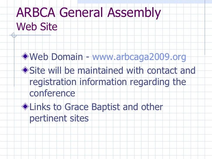 2009 ARBCA Conference