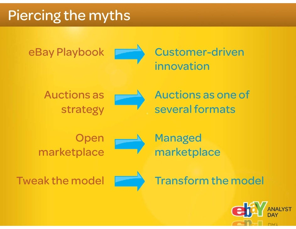 """What to expect from eBay     We are creating the """"new eBay"""" and    will win in the huge Secondary market     This will tak..."""