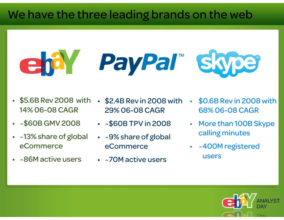 Positioning for the future: Clear priorities     • Capitalize on PayPal's enormous potential                   PayPal s   ...