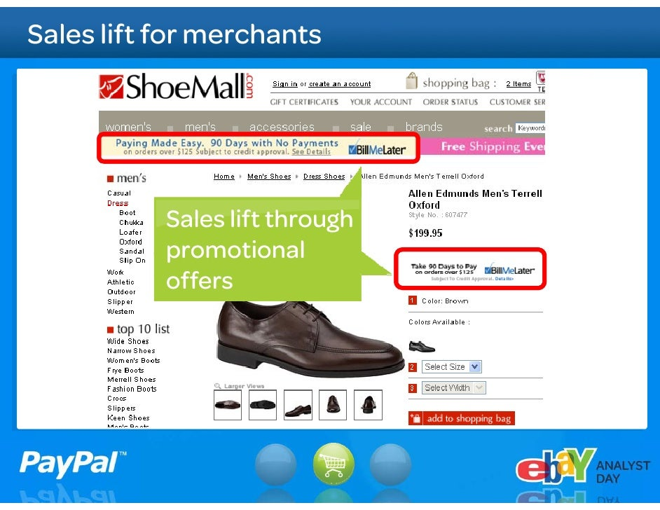 Significant PayPal – BML synergies  Grow eBay GMV       Accelerate merchant      sales cycle           Speed Bill Me Later...