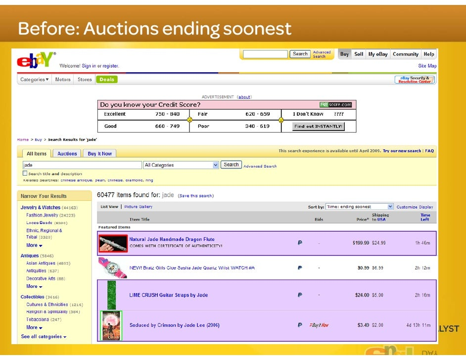 Search experience that merges products and listings