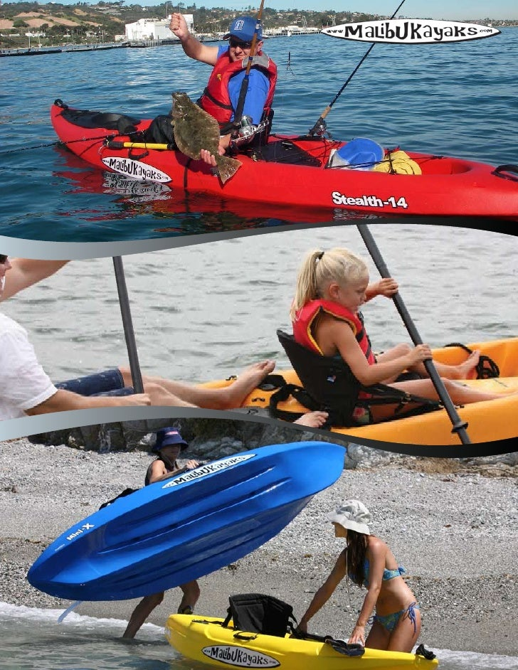 Malibu Kayaks is a leading manufacturer of roto-molded, linear polyethylene sit-on-top kayaks. We offer many modelssuited ...