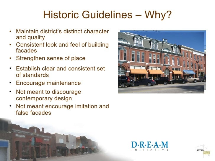 2009 DREAM Renovation of Existing and Historic Buildings Slide 3