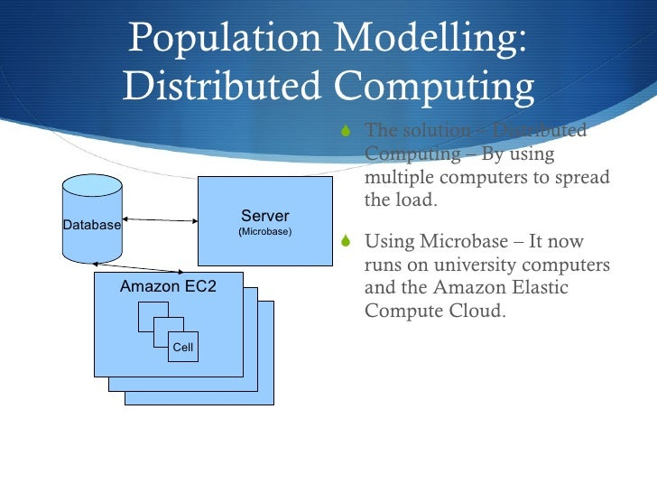 Population Modelling: Distributed Computing <ul><li>The solution – Distributed Computing – By using multiple computers to ...