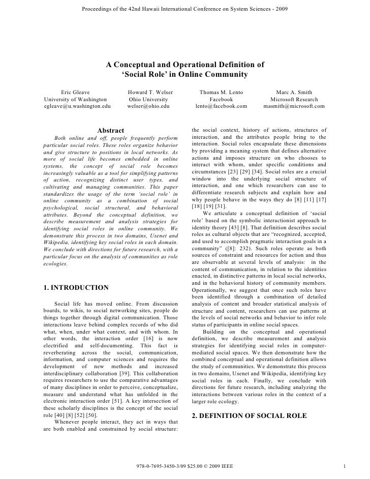 Proceedings of the 42nd Hawaii International Conference on System Sciences - 2009                              A Conceptua...