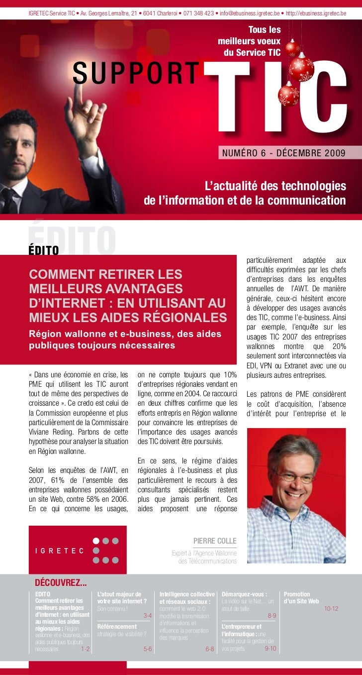 IGRETEC Service TIC • Av. Georges Lemaître, 21 • 6041 Charleroi • 071 348 423 • info@ebusiness.igretec.be • http://ebusine...