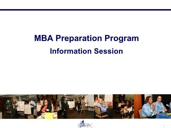 MBA Preparation Program Information Session