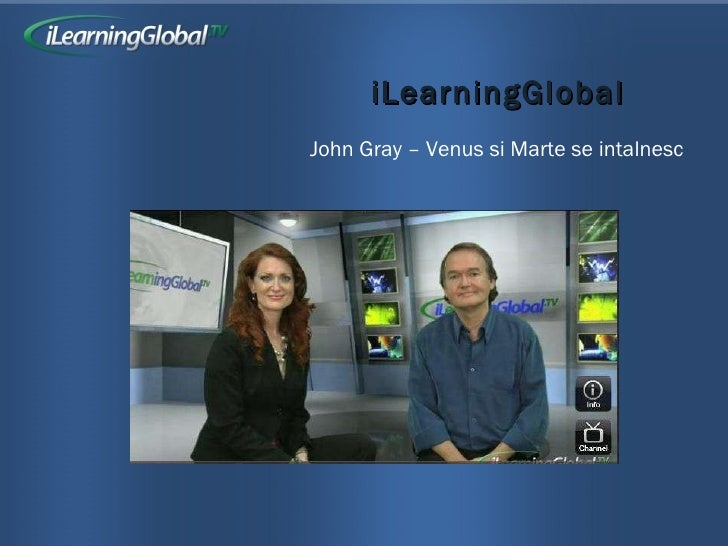 iLearningGlobal John Gray – Venus si Marte se intalnesc