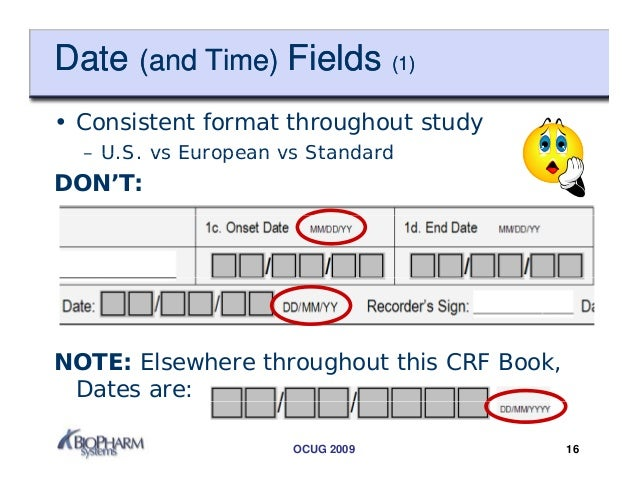 Case Report Form Crf Design Tips