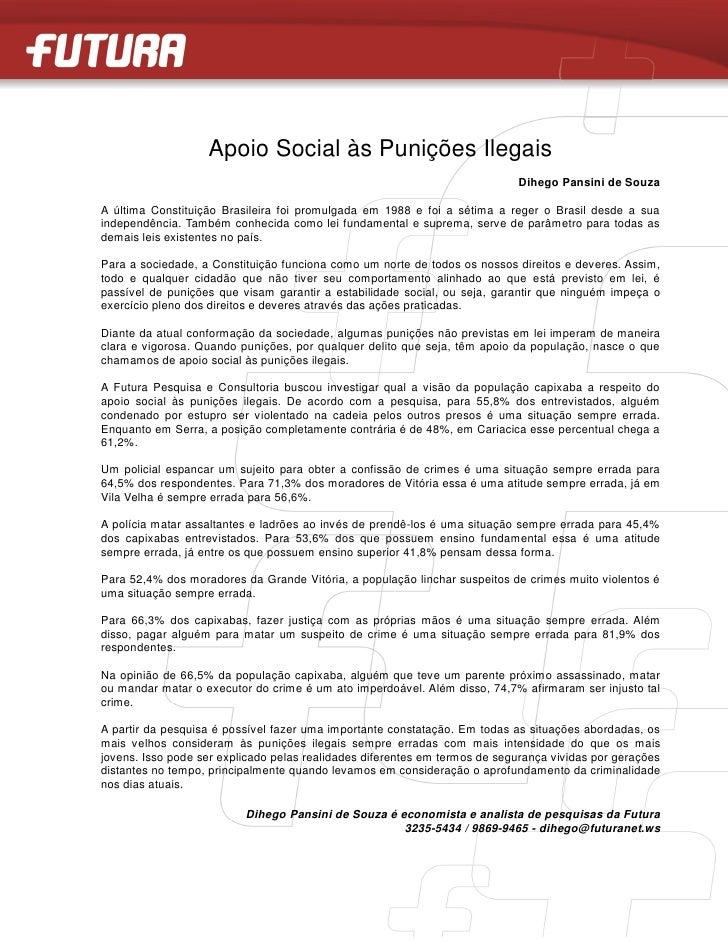 Apoio Social às Punições Ilegais                                                                            Dihego Pansini...