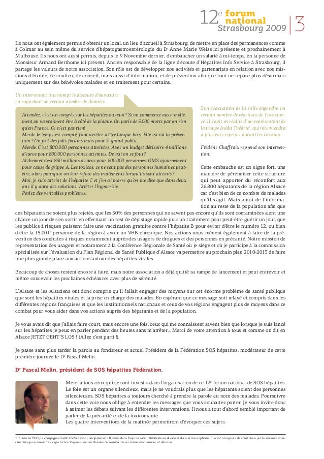 2009 strasbourg-actes forum sos hepatites Slide 3