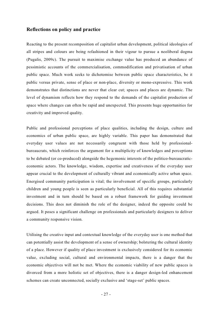 Reflections on policy and practiceReacting to the present recomposition of capitalist urban development, political ideolog...