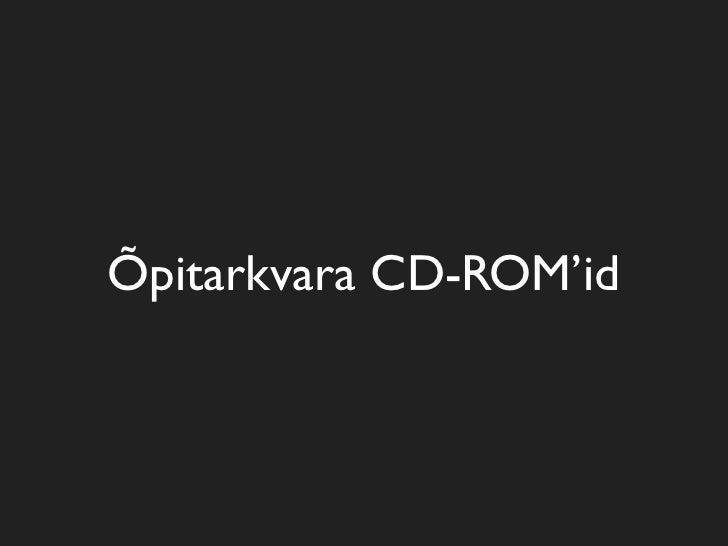 Õpitarkvara CD-ROM'id