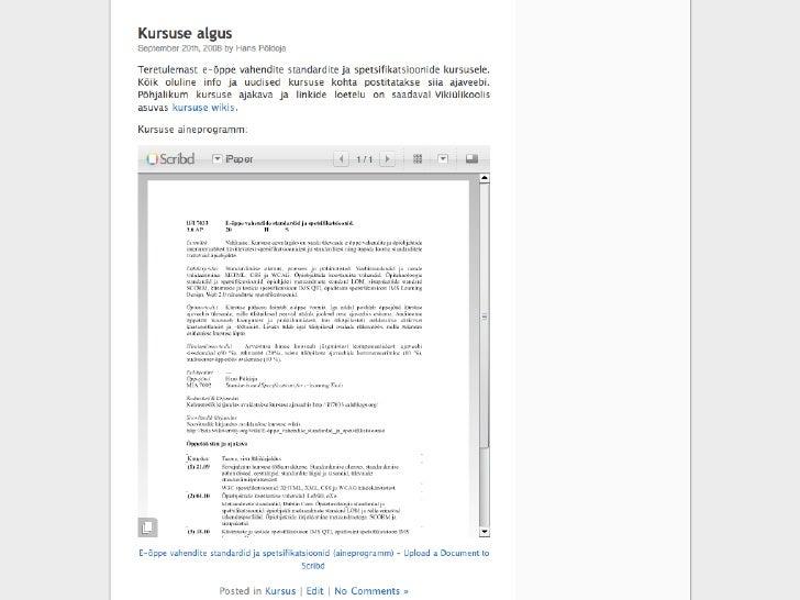 E-õpe ja digitaalsed õppematerjalid