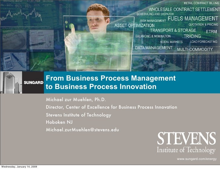 From Business Process Management                               to Business Process Innovation                             ...