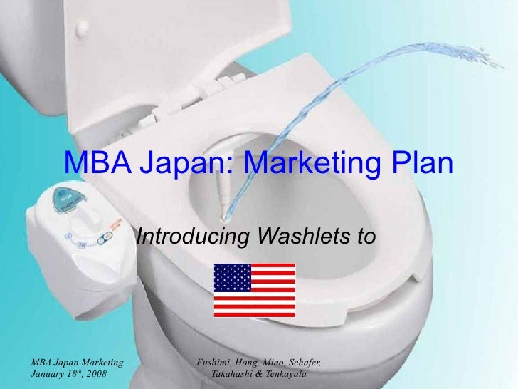MBA Japan: Marketing Plan Introducing Washlets to