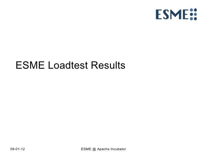 ESME Loadtest Results
