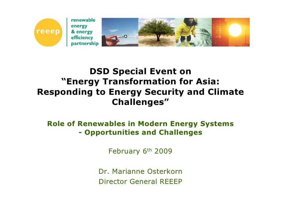 "DSD Special Event on     ""Energy Transformation for Asia: Responding to Energy Security and Climate                Challen..."