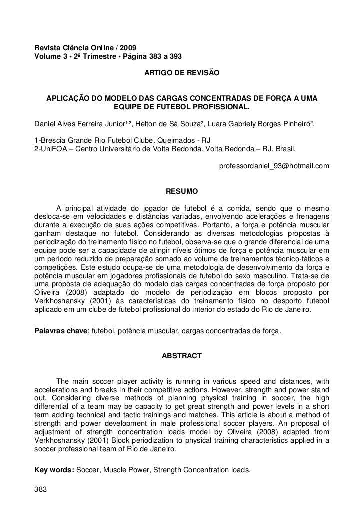 Revista Ciência Online / 2009Volume 3 • 2º Trimestre • Página 383 a 393                                 ARTIGO DE REVISÃO ...