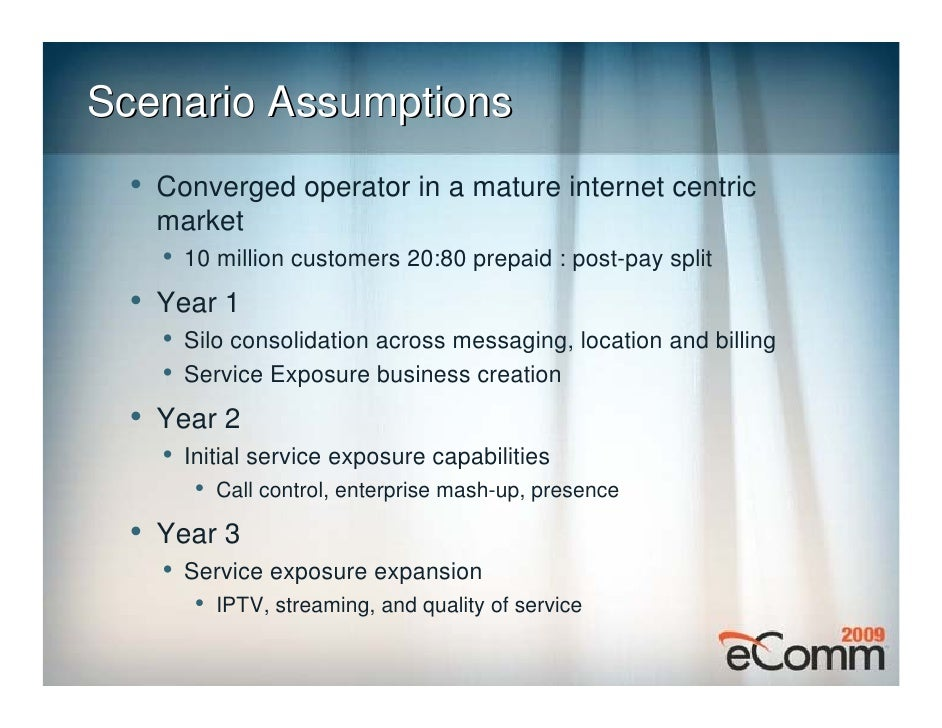Example Year 2 and 3 Services    •   Communication enabled business processes   •   Enterprise and Voice Mash-ups   •   Co...