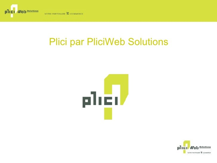 Plici  par PliciWeb Solutions