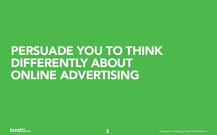Designing For, With, and Around Advertising Slide 2