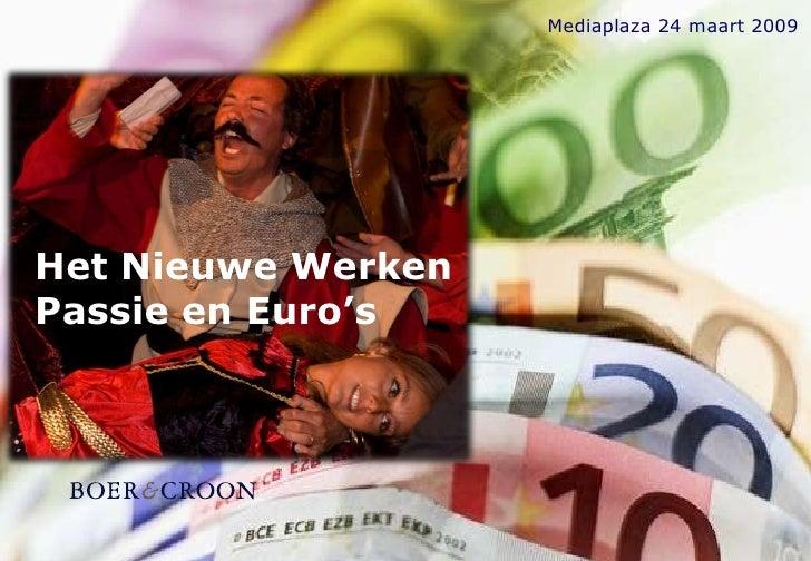 Mediaplaza 24 maart 2009     Het Nieuwe Werken Passie en Euro's