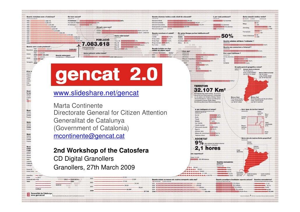 www.slideshare.net/gencat     Marta Continente     Directorate General for Citizen Attention     Generalitat de Catalunya ...