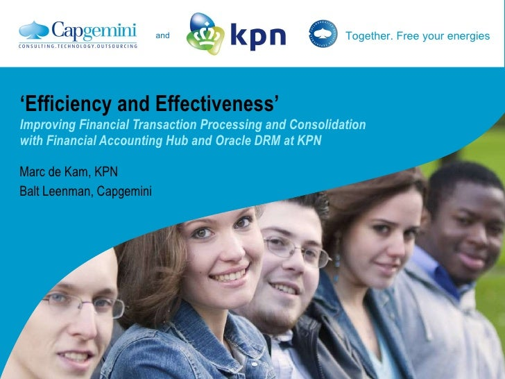 ' Efficiency and Effectiveness' Improving Financial Transaction Processing and Consolidation  with Financial Accounting Hu...