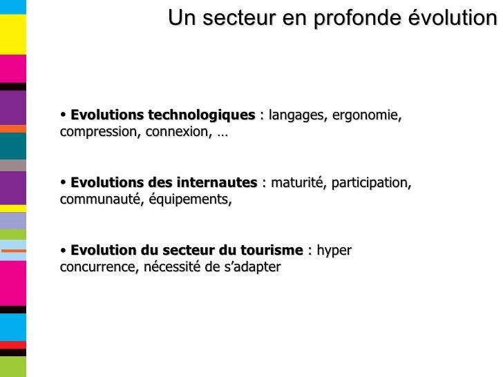 Un secteur en profonde évolution <ul><li>Evolutions technologiques  : langages, ergonomie, compression, connexion, … </li>...