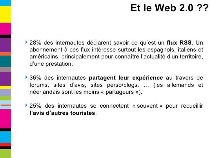 <ul><li>28% des internautes déclarent savoir ce qu'est un  flux RSS . Un abonnement à ces flux intéresse surtout les espag...