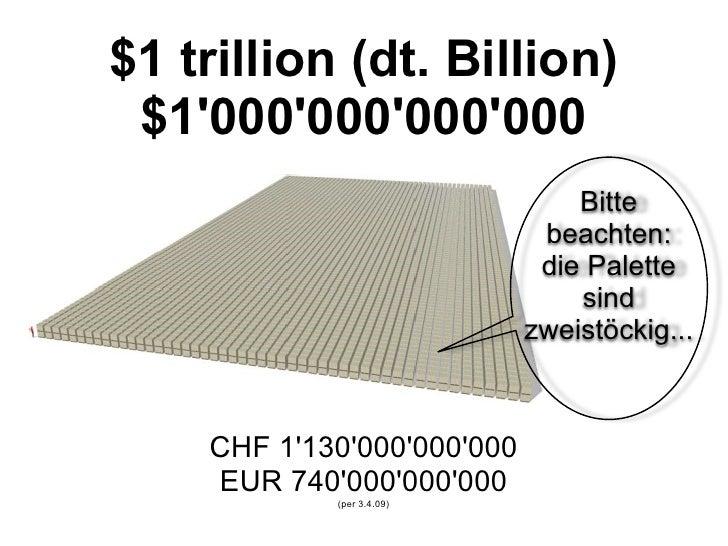 wie viel ist eine billion