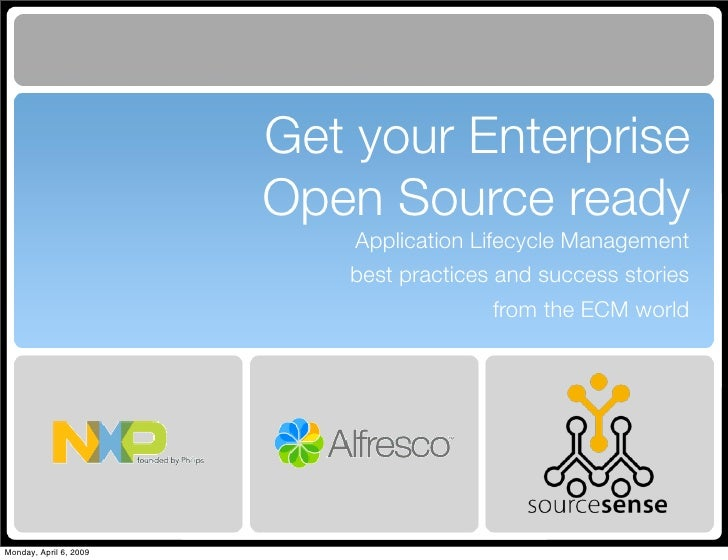 Get your Enterprise                         Open Source ready                             Application Lifecycle Management...