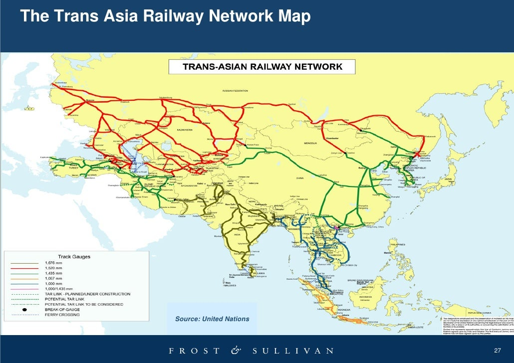 Map Of Asia Railways.2009 04 Growth Opportunities In Asia Pacific Rail Markets