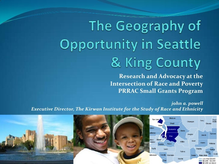 Research and Advocacy at the                                  Intersection of Race and Poverty                            ...