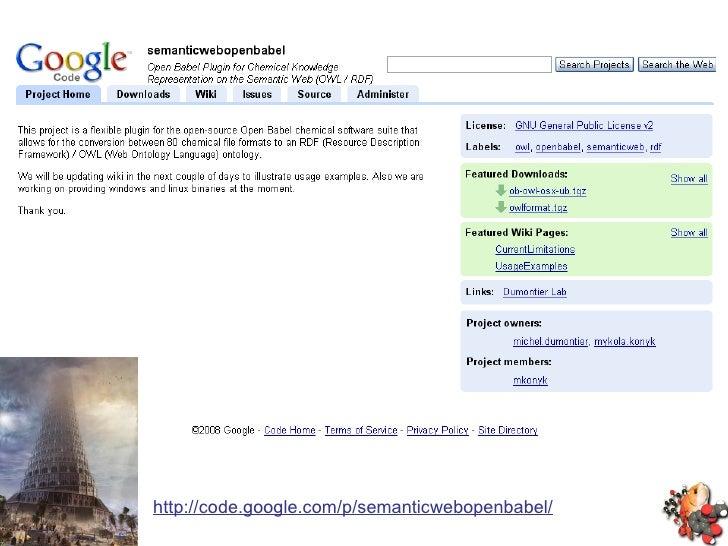 http://code.google.com/p/semanticwebopenbabel/